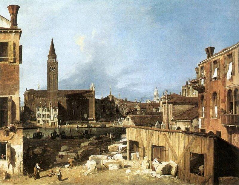 Каналетто. Вид на церковь Санта Мария делла Карита