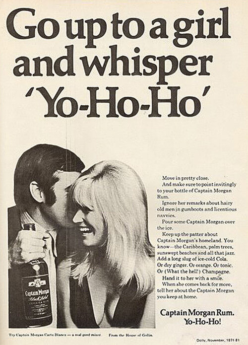 a guy who thinks yo-ho-ho is a seductive phrase and a girl being seduced by that stupid line