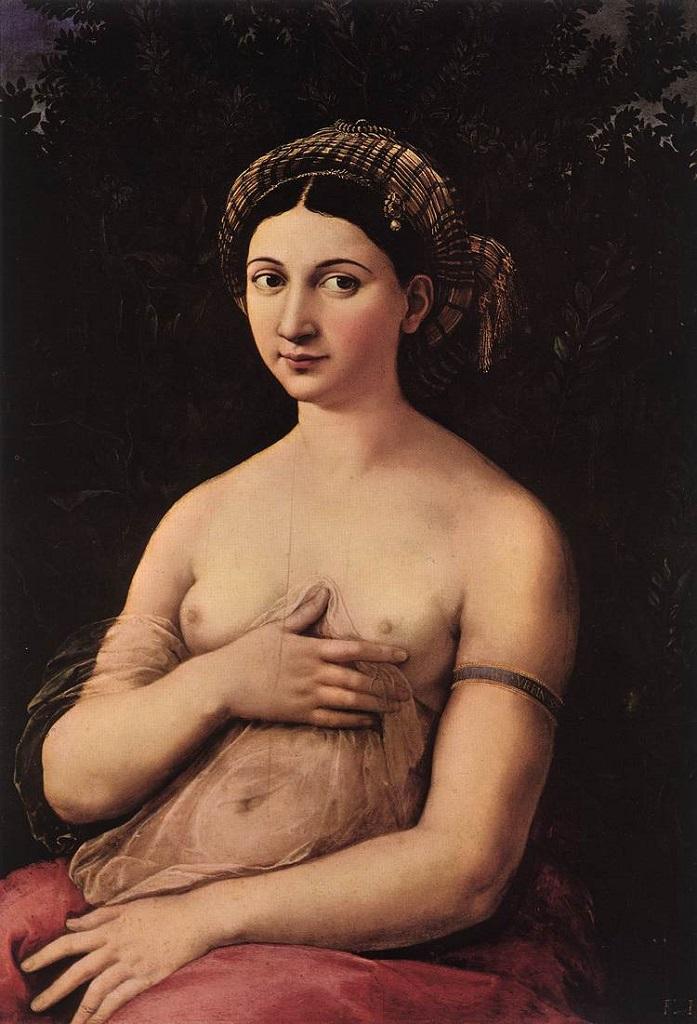 """Рафаель, Любовница Рафаеля, Форнарина. """"La Fornarina"""", Margherita Luti, the daughter of a baker (fornaro)Маргерита Лути, дочери пекаря из Сиены."""