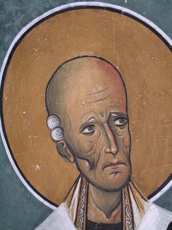 Святой Праведный Лазарь Четверодневный, Епископ Китийский. Фреска церкви Панагии Аракиотиссы в Лагудера, Кипр. 1192 год.