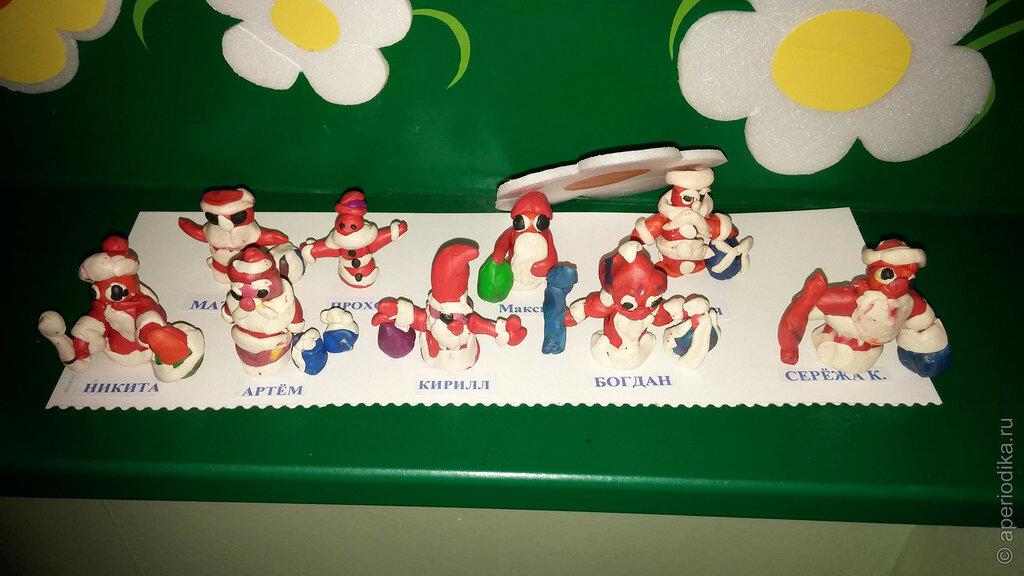 Внезапные Деды Морозы. Из пластилина