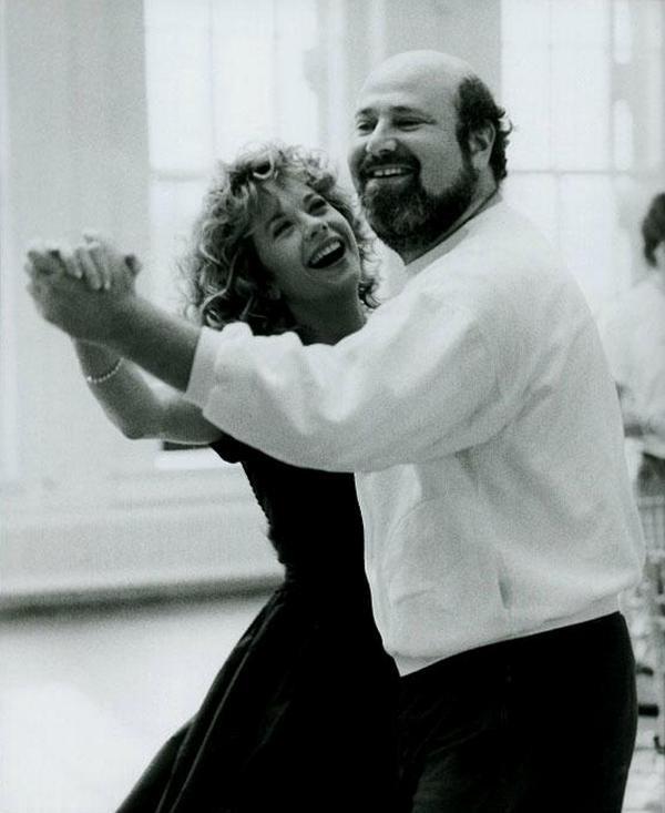 Мег Райан и режиссер Роб Райнер на съемках фильма «Когда Гарри встретил Салли», 1988 год