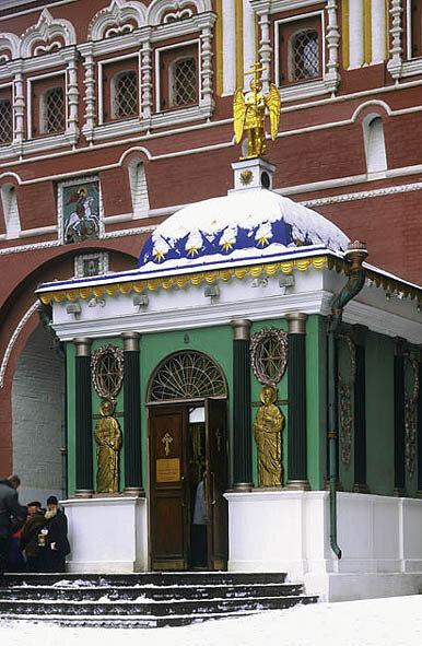 Часовня Иверской иконы Божией Матери у Воскресенских ворот, Москва.