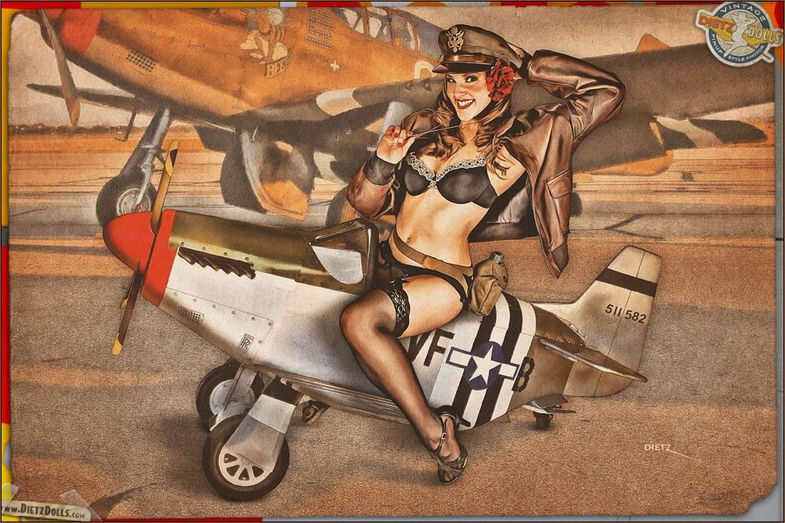 Армейский pin-up в стиле 1940-х годов от американского художника Britt Dietz (9)