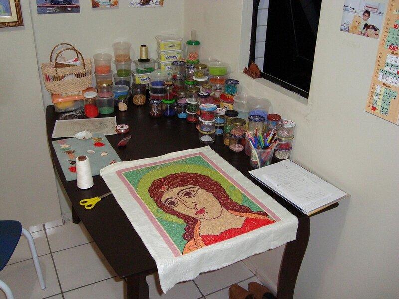 Фото пользователя Тётя Анюта Петрова с меткой. вышивка по канве.