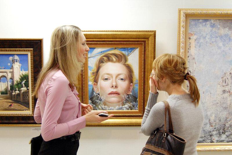 Открытие персональной выставки Никаса Сафронова