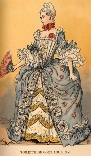 Платье эпохи барокко
