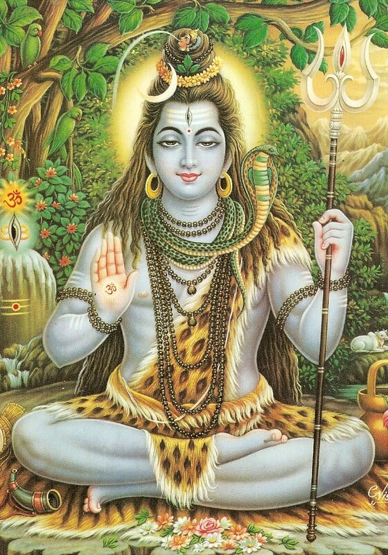"""Оригинал схемы вышивки  """"Shiva """" ."""