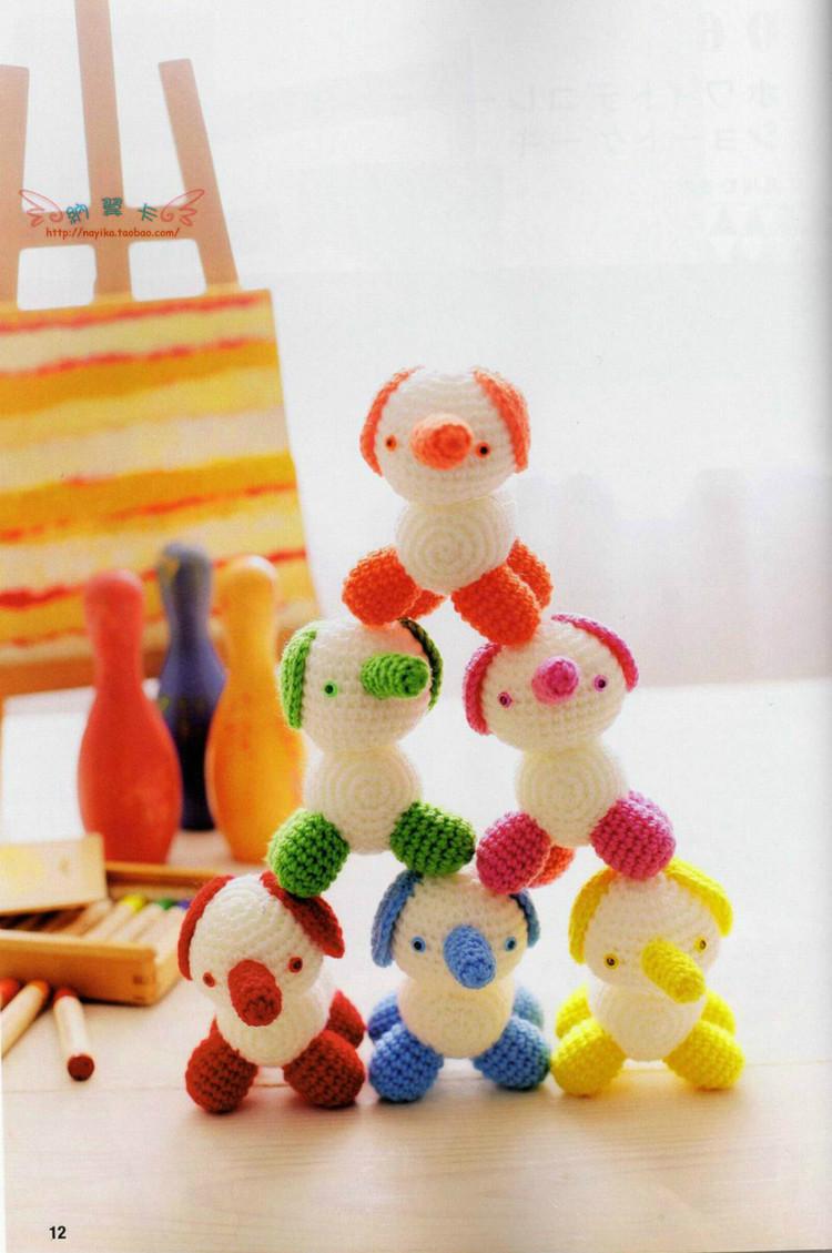 Вязание игрушек амигуруми крючком. Японский журнал