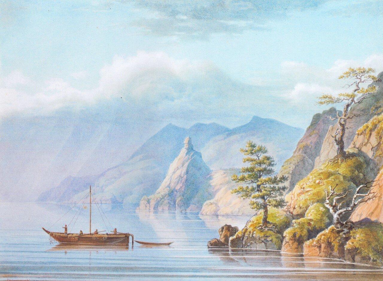 84. Озеро Байкал. Скала Маолая колокольня в бухте Песчаной.jpg