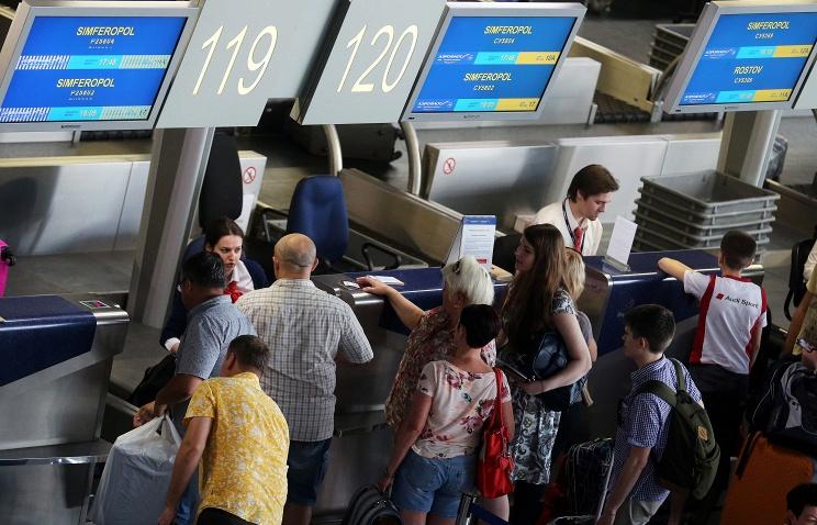 Пассажиров вСимферополь из различных городов РФ втечении этого года
