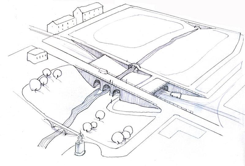 Державинский мост. Эскизный проект для 2030 года