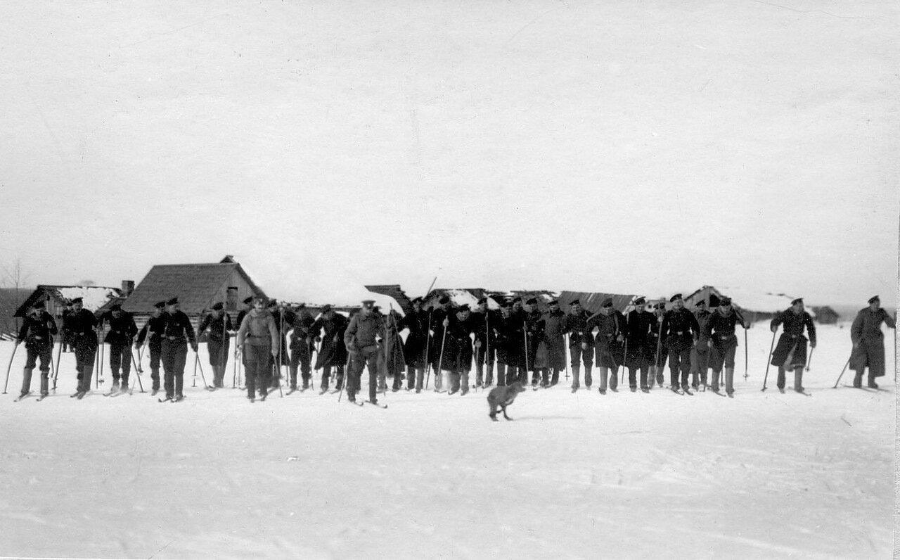 27. Пограничники на лыжах. 1908