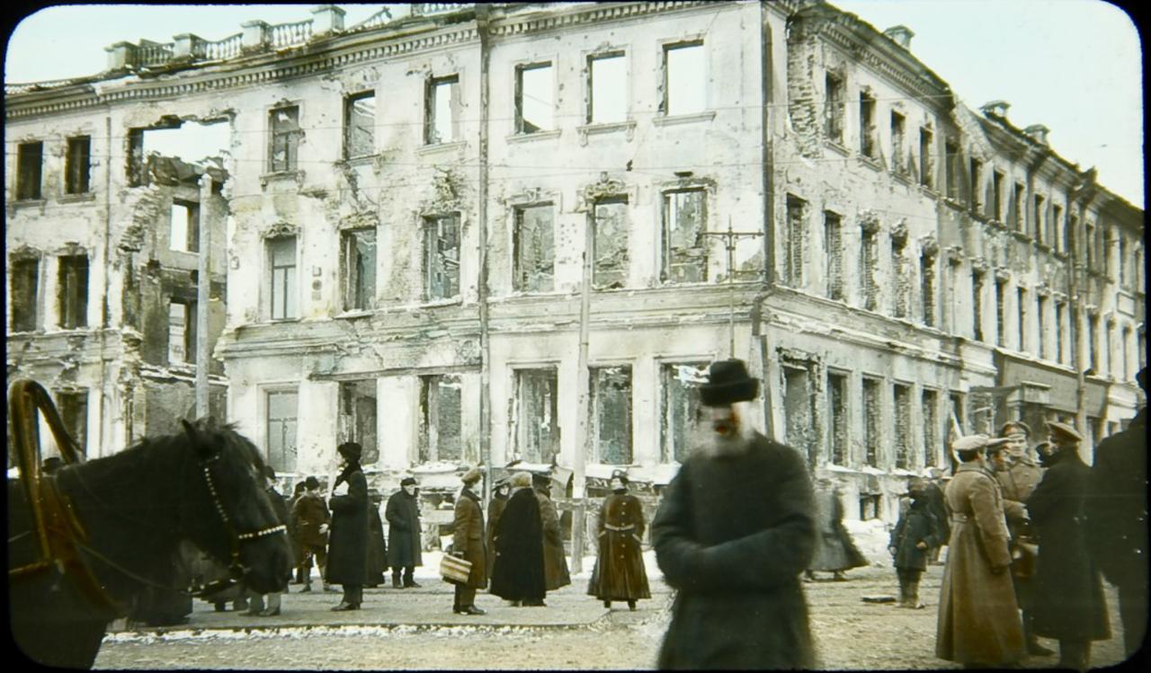 Разрушенное здание в Москве