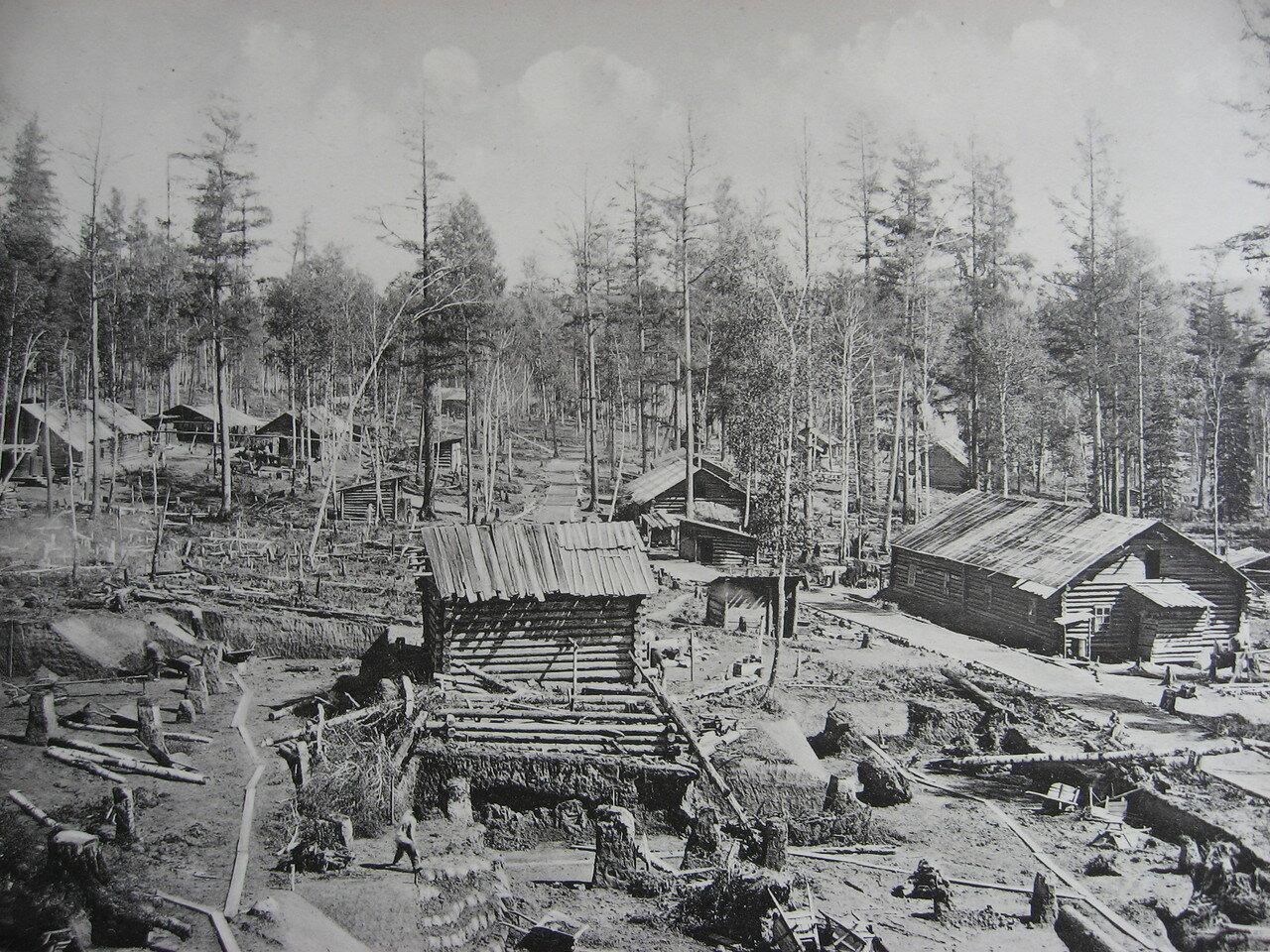 38. 2552 верста. Рабочий поселок близ разъезда Козарей. Строительный период 1909
