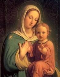 """Предпросмотр - Схема вышивки  """"Дева Мария и младенец """" - Схемы автора  """"rybka6 """" - Вышивка крестом."""