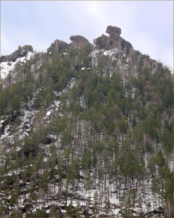 Скалы Жаба и Цыпа, вид с массива Такмака