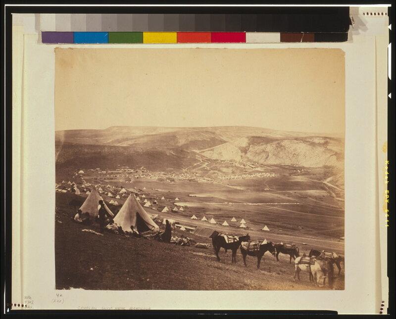 Кавалерийский лагерь под Севастополем
