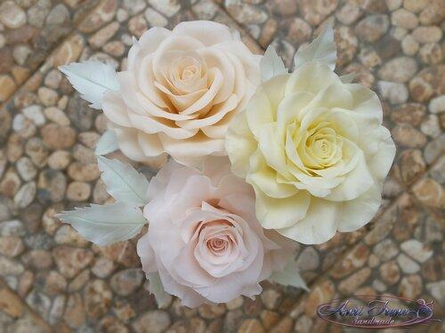 Нежные розы. Холодный фарфор