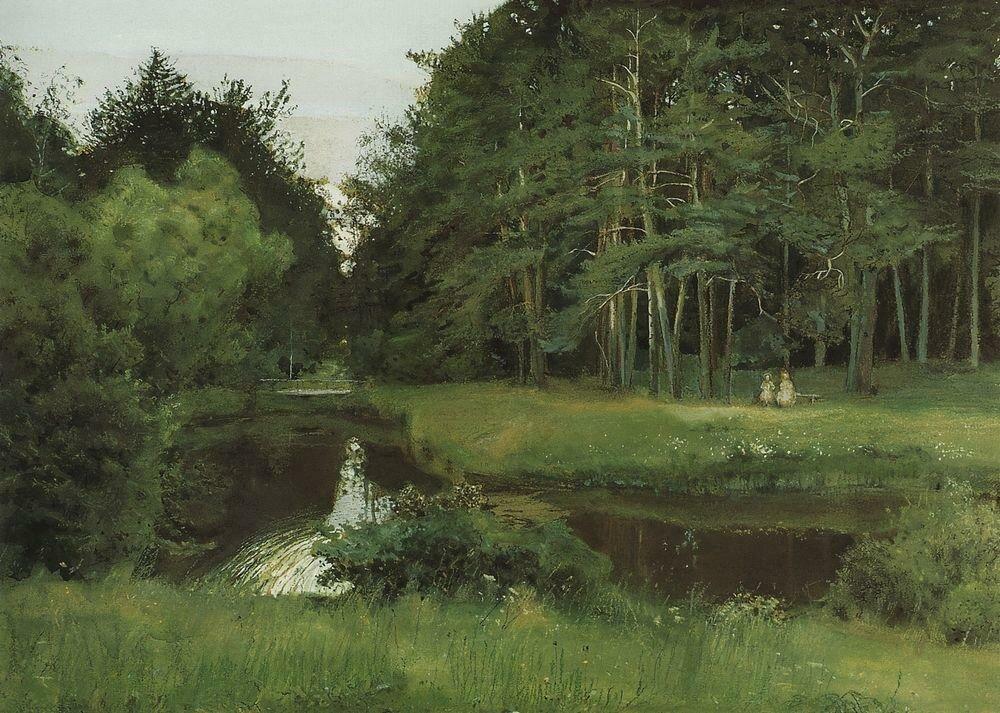 Сумерки в старом парке. 1897.jpg