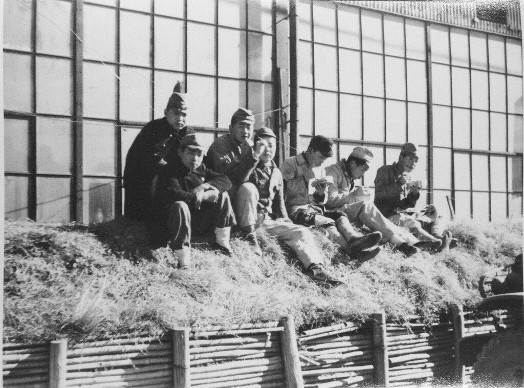 Japanese workmen on the base, Dec 1945