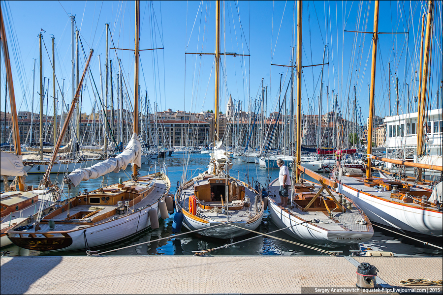Старый порт в Марселе / The old port in Marseille