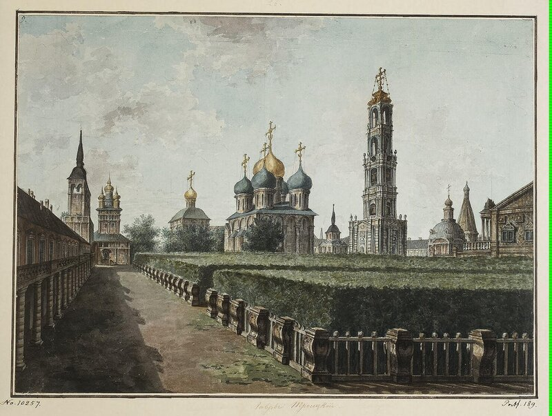 Alexeyev Fiodor - Monastery of the Trinity and St Sergius. View of the Dormition Cathedral Bell-Tower and Refectory Chamber - JRR-6785