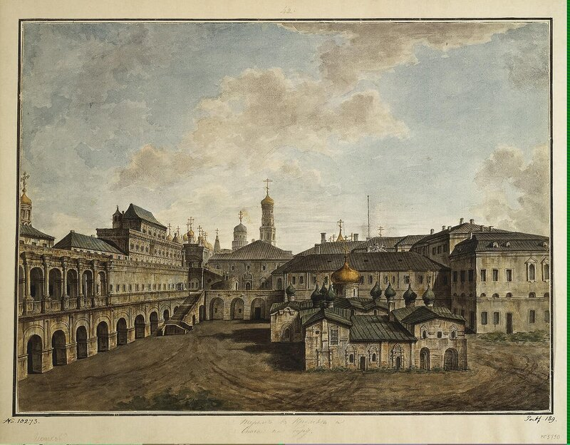 Alexeyev Fiodor - View of the Terem Palace and Cathedral of Our Saviour - JRR-6788
