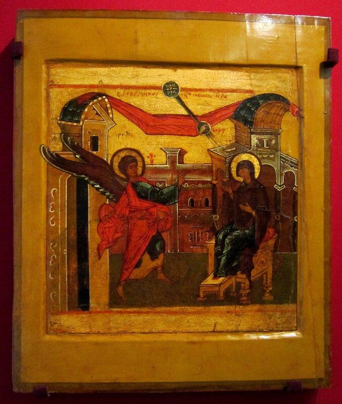 Благовещение Пресвятой Богородицы. Конец XVI века. Русский Север.