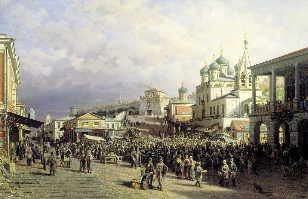 1064.Vereshagin.Petr.Rynok.v.Nizhnem.Novgorode.1872.holst.maslo.90h140.sm.jpg