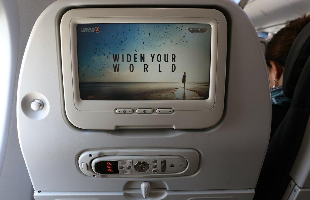 В салоне Боинг-737 Turkish Airlines