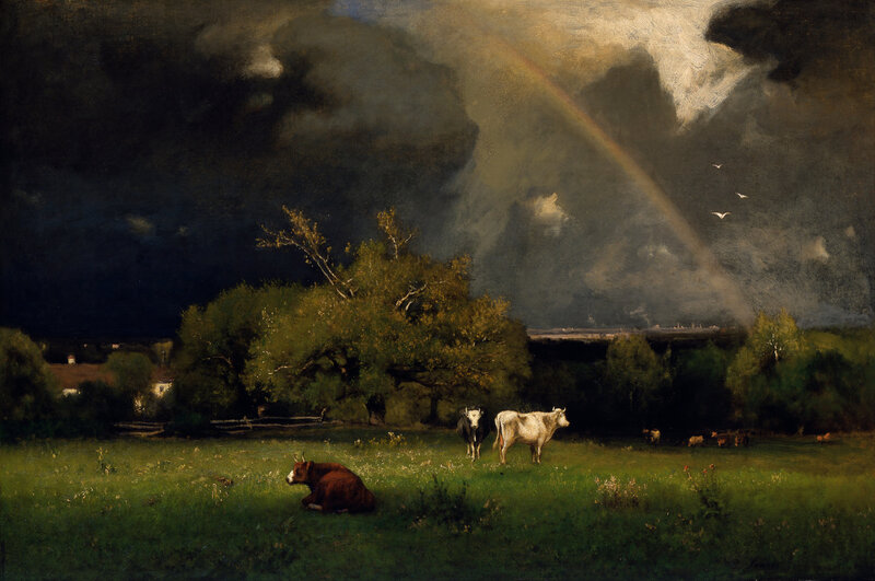 The Rainbow, oil on canvas ca. 1878