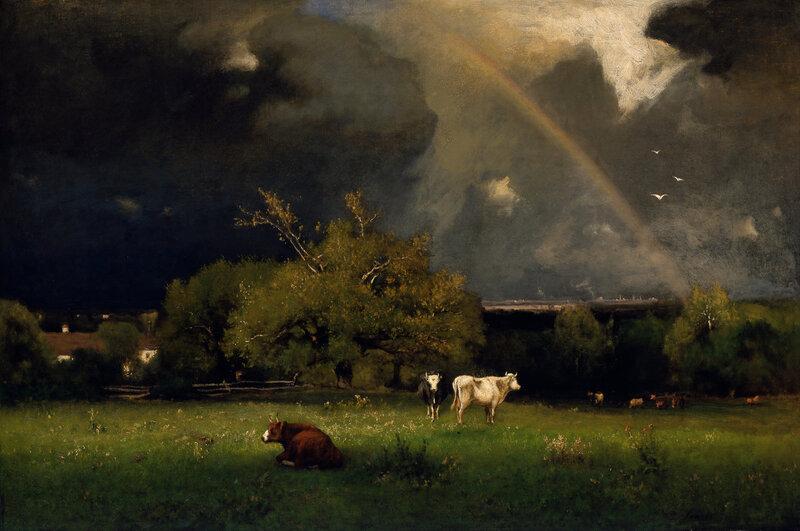 The Rainbow, oil on canvas ca. 1878