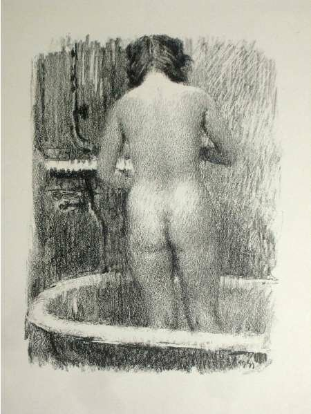 Обнаженная в ванной, вид со спины | Nude in the bathroom view from the back