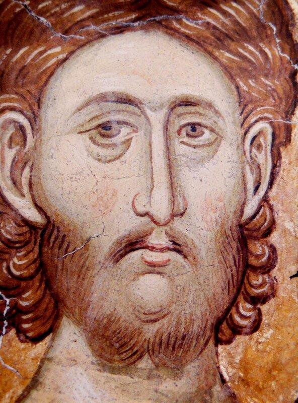 Святой мученик Арефа. Фреска монастыря Высокие Дечаны, Косово, Сербия. Около 1350 года. Фрагмент.