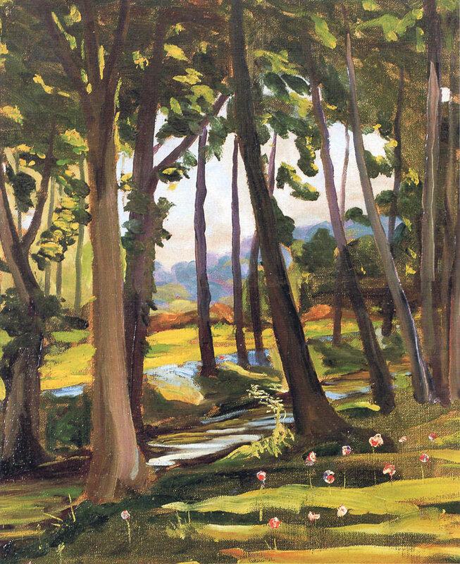 + 1923 Деревья у ручья в  Норфолке.jpg