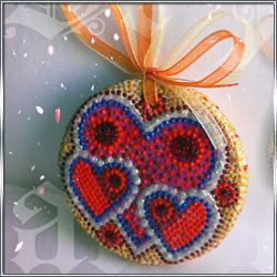 Сувенирная валентинка I LOVE U