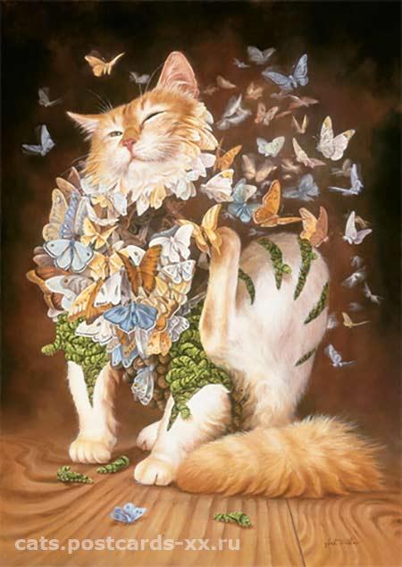 Кошачье счастье. Художник  Heidi Taillefer
