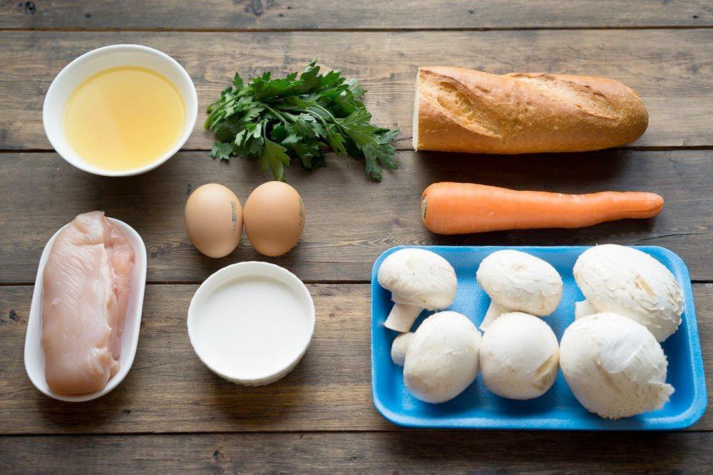 рецепт куриный суп с кнелями