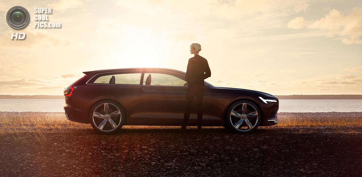 Новый дизайнерский язык Volvo на примере Concept Estate (14 фото)