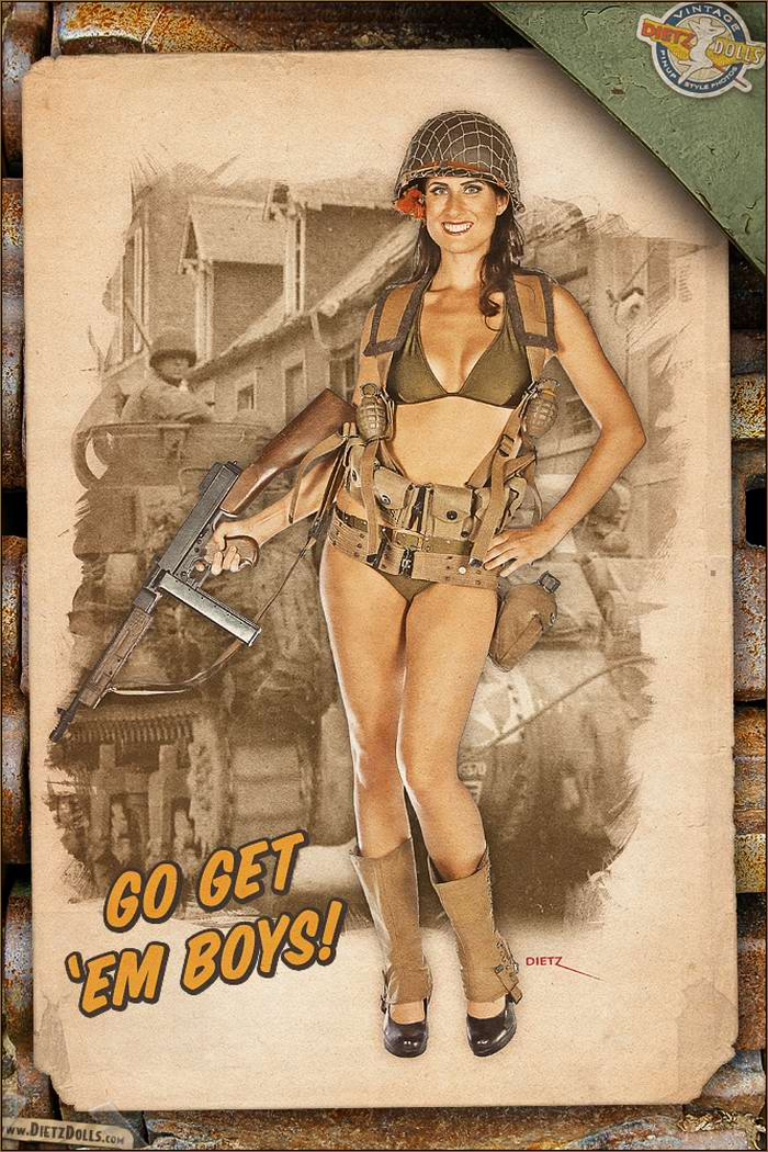 Армейский pin-up в стиле 1940-х годов от американского художника Britt Dietz (4)