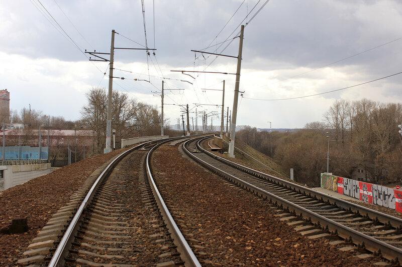 Станция Тушино, вид на Рижсикй вокзал
