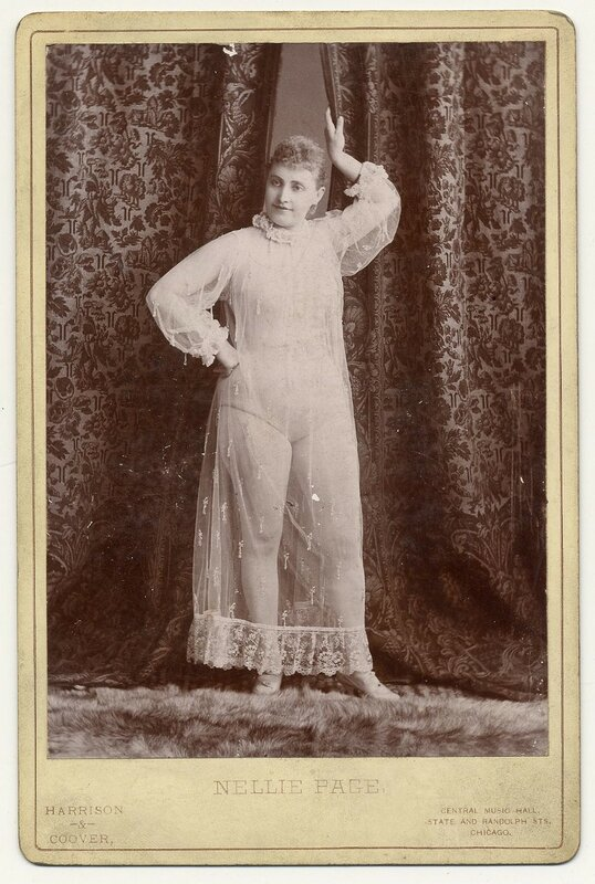 1890. Nellie Page, posing.