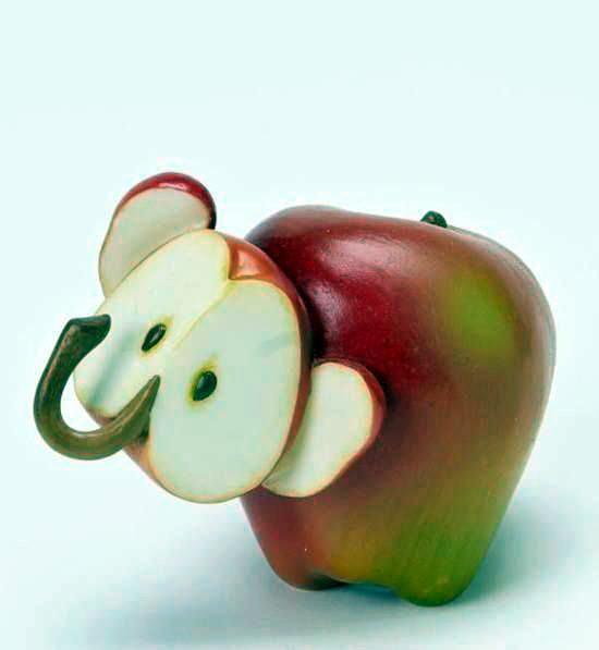 Поделка из свежего яблока 629