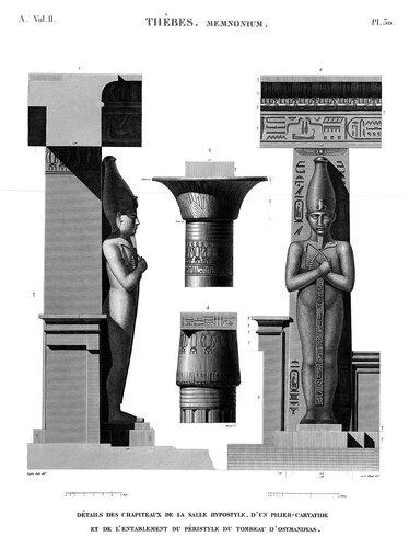Рамессеум, храм фараона Рамсеса II, Египет, ордер храма