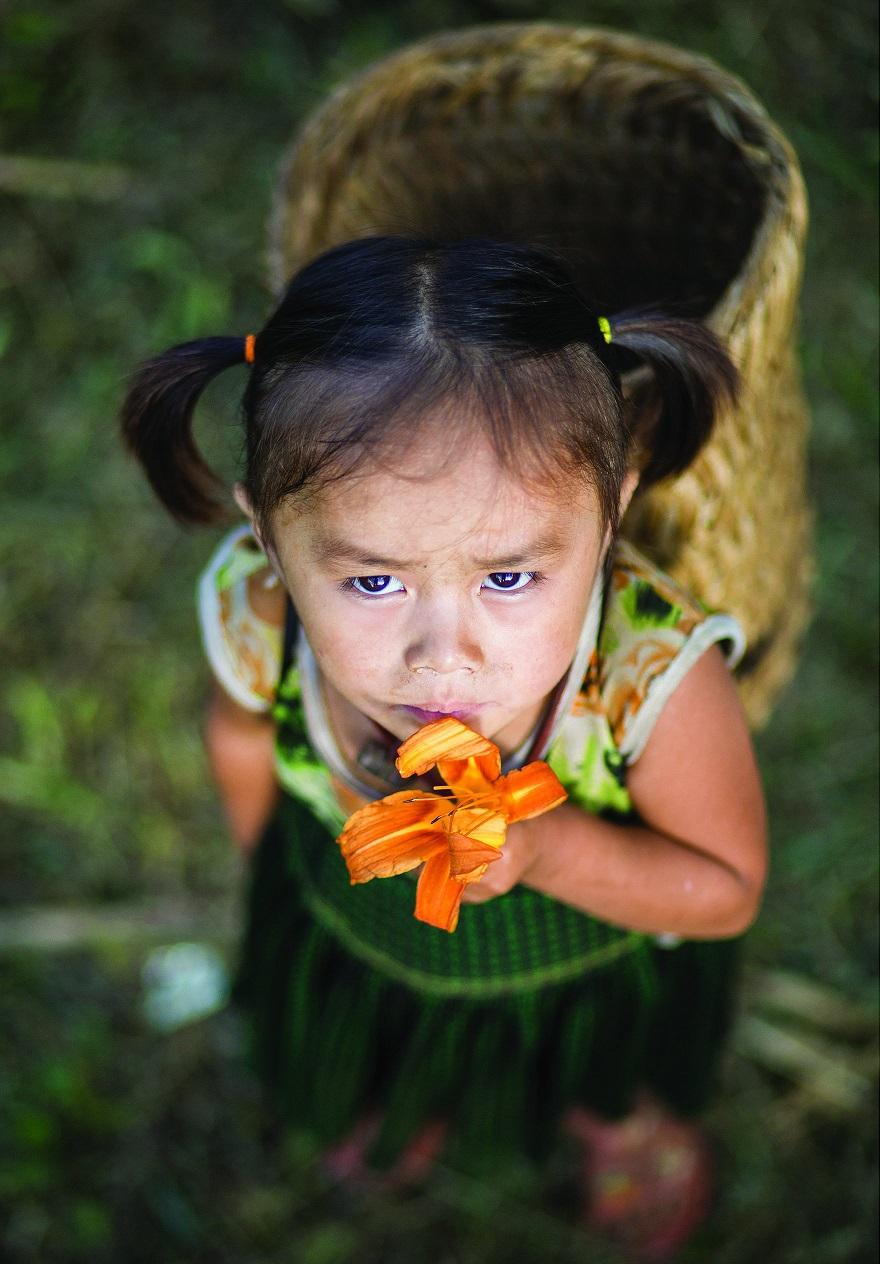 Девочка в Бао Лак.