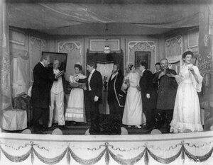 Сцена из водевиля в театре графа А.Д.Шереметева.