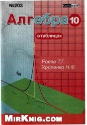 Книга Алгебра в таблицах. 10 класс