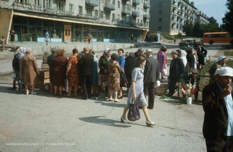 1980. Russland.  Russian Federation. Russische Föderation. Sibirien. Sibir. Siberia. Novosibirsk. Gemüsemarkt.