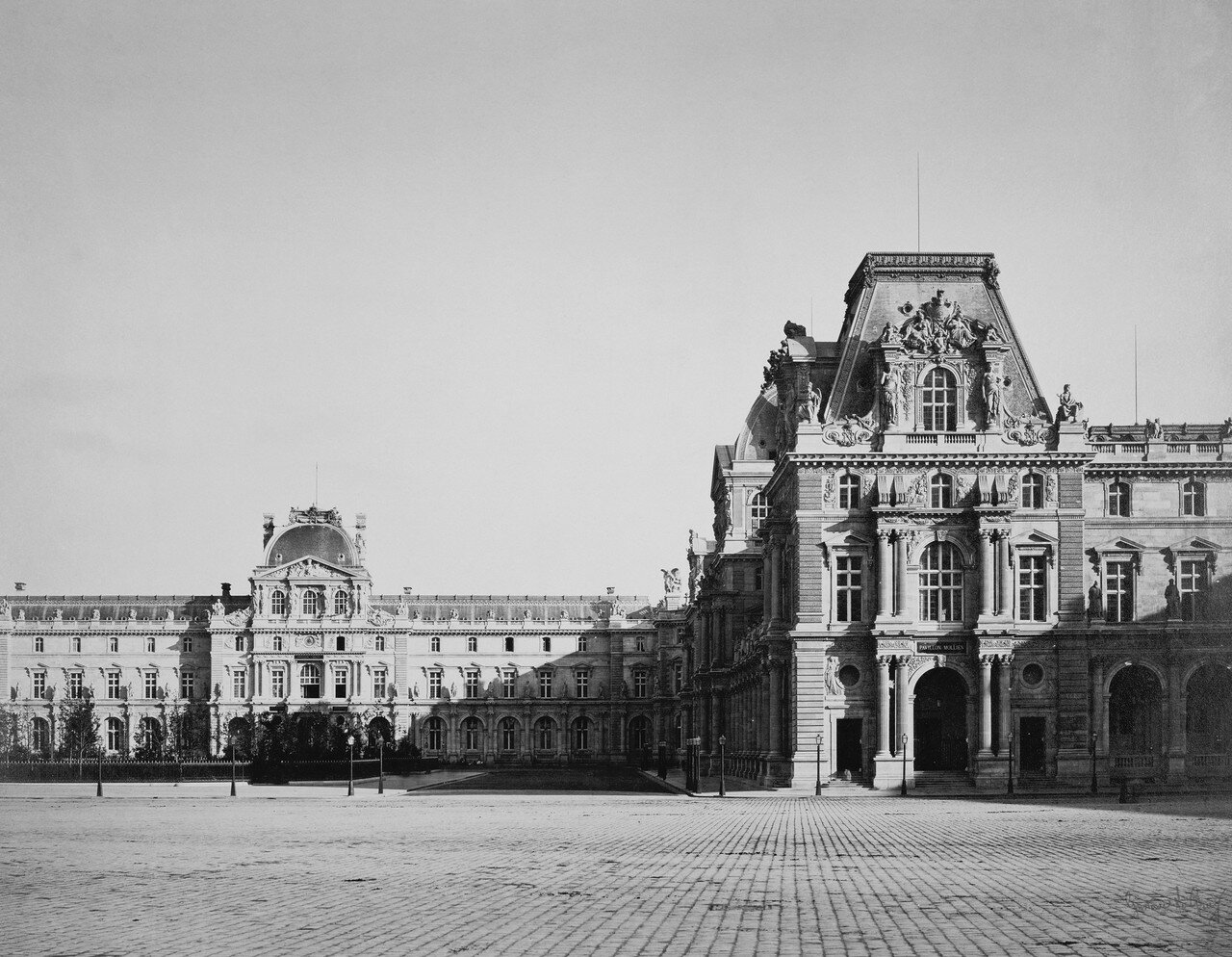 1859. Лувр. Павильон Мольен